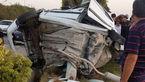 عکس پژو مچاله شده / مرگ پسر 17 ساله با 150 کیلومتر سرعت در بلوار ساحلی بوشهر