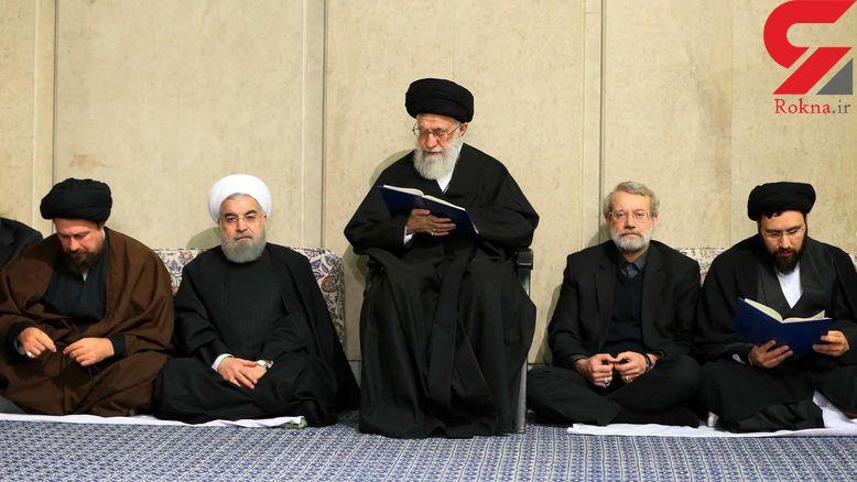مراسم ترحیم آیتالله هاشمی رفسنجانی با حضور رهبر انقلاب +تصاویر