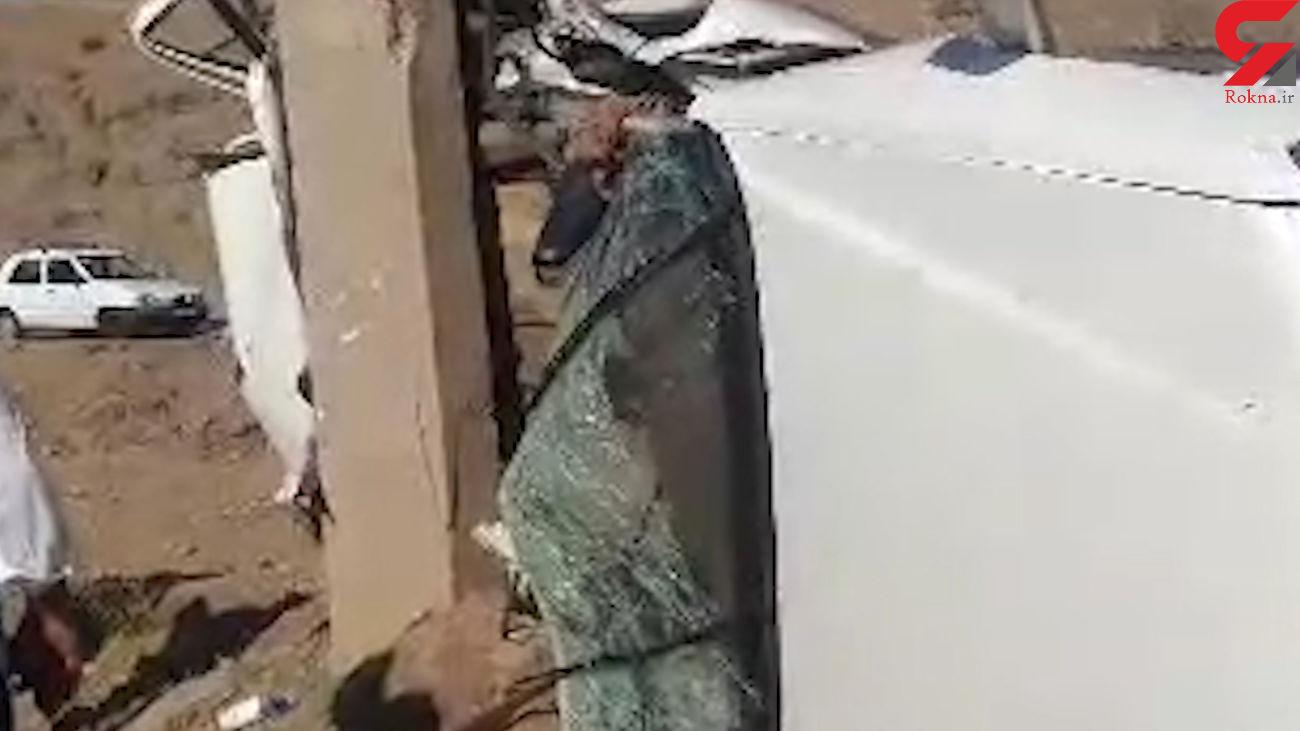 فیلم تلخ از لحظه تصادف هولناک در مرند / پرشیا له شد