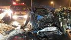 عکس باورنکردنی از جزغاله شدن 2 خودرو در تایباد / 2 نفر زنده زنده سوختند