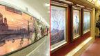 موزه هنر در قطارهای مسکو +عکس