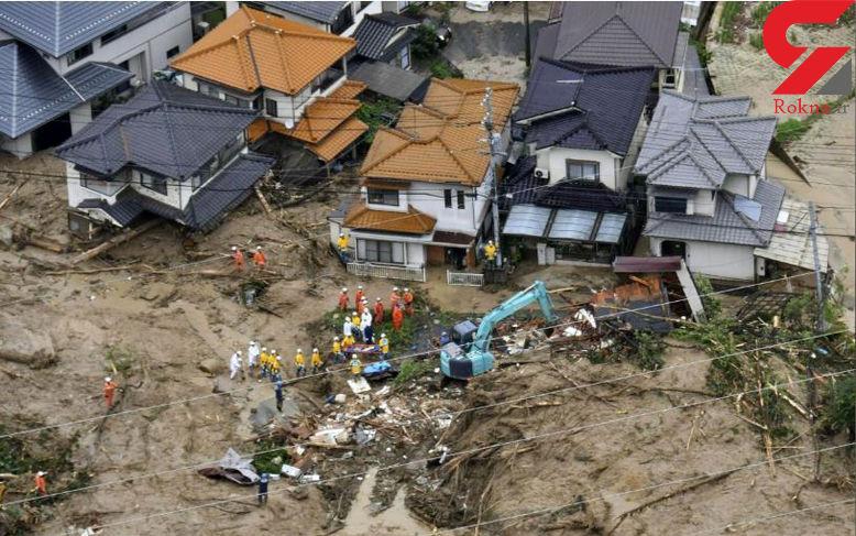 تصاویر تکاندهنده از وحشت آفرینی سیل در ژاپن / 11 تن کشته شدند