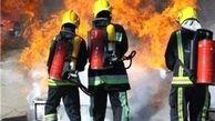 آتش سوزی رستوران فست فود در بلوار نبرد