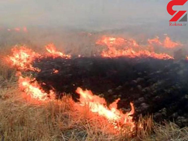 10 هکتار از مراتع طبیعی روستای زنگه درآتش سوخت
