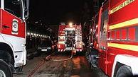 خودروی پژو ۲۰۶ در پارکینگ آتش گرفت/ ۲۵ نفر نجات یافتند