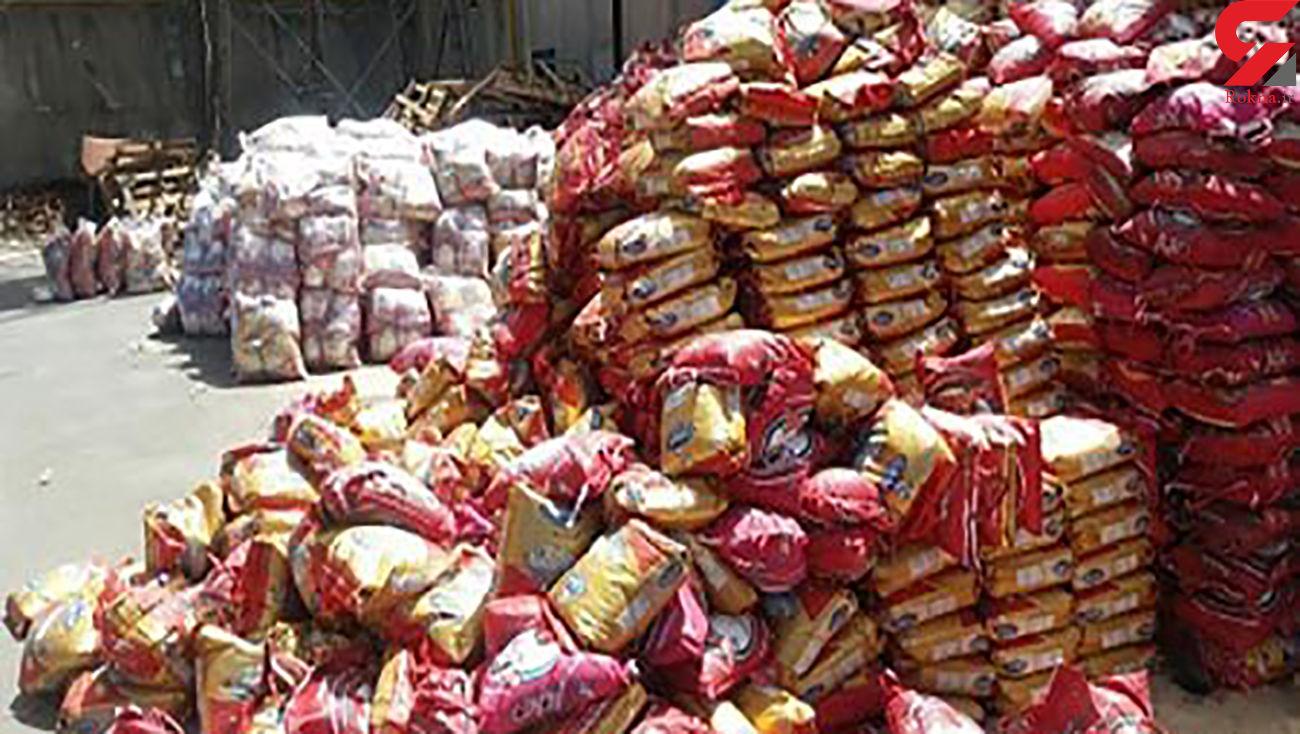 کشف 45 تن برنج خارجی مظنون به قاچاق در بوانات