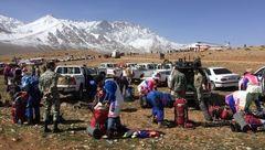 کمپینگ شبانه 30 کماندوی ارتش در کوهستان با دمای 15 درجه زیر صفر