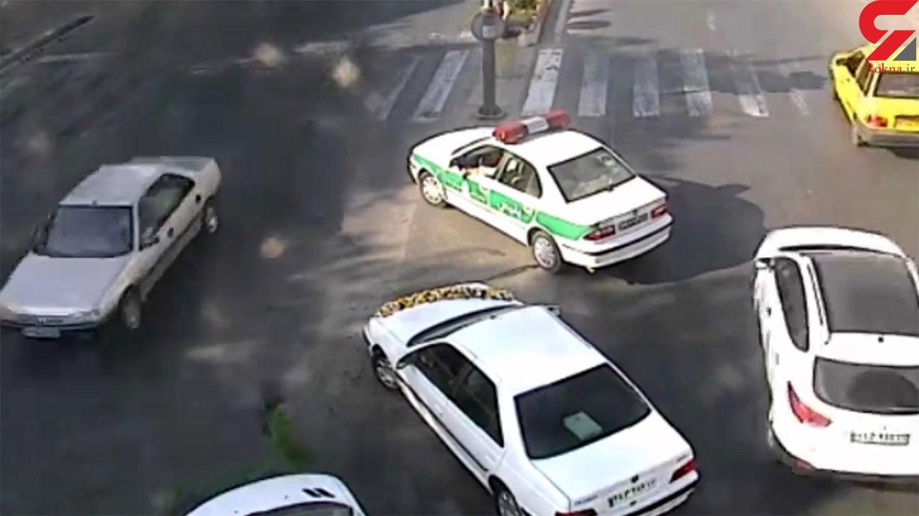 اقدام پلیس با غیرت مازندرانی با دختر پابرهنه در خیابان + فیلم