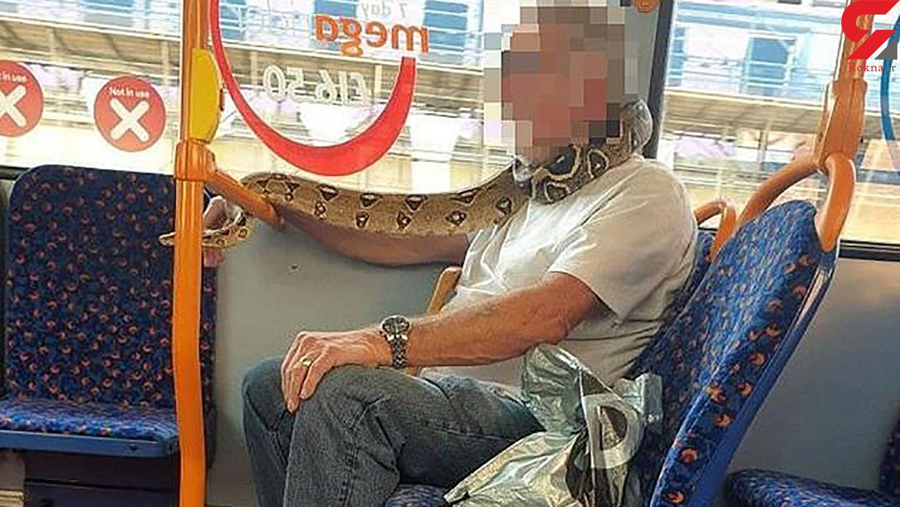 ماسک باور نکردنی یک مرد مسافران اتوبوس را به وحشت انداخت + عکس