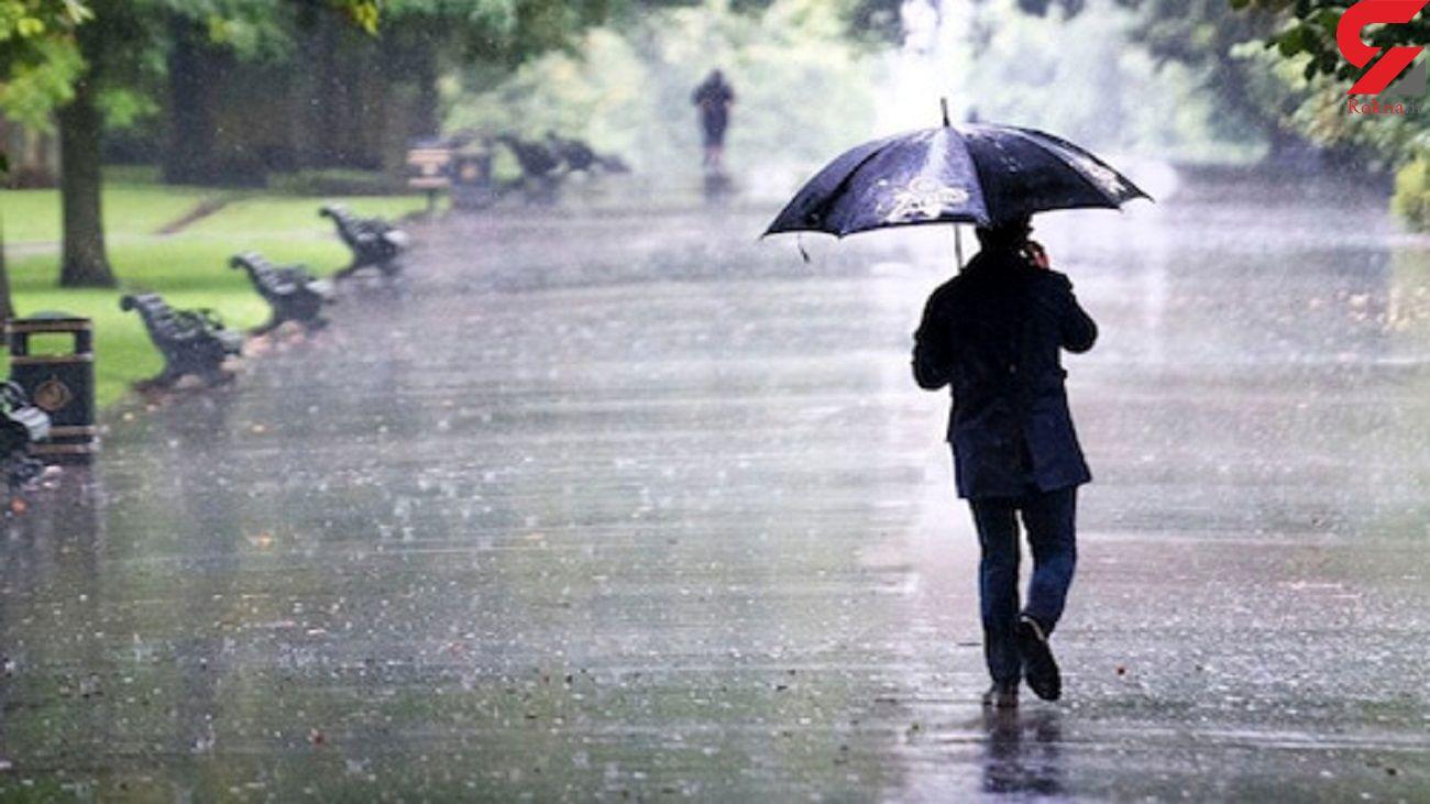 بارش باران و جلوه پائیزی استان اردبیل
