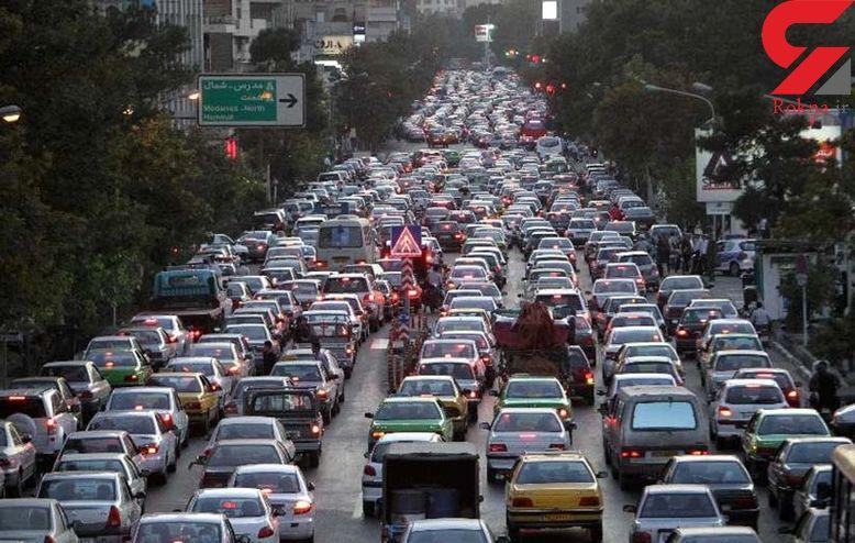 وضعیت ترافیک معابر بزرگراه های  تهران