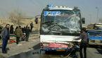 برخورد زنجیره ای 10 خودرو در بزرگراه امام علی(ع) تهران + عکس