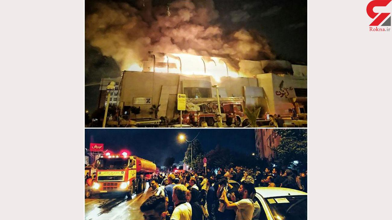 اولین فیلم از آتش سوزی هولناک پاساژ زیتون شرق تهران