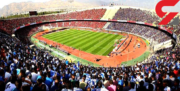 تماشای خانوادگی جام جهانی در استادیوم  آزادی / نمایشگر 1200 متری وسط زمین فوتبال