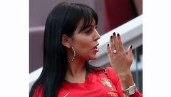 جنجال انگشتر میلیاردی در دست نامزد رونالدو! + عکس