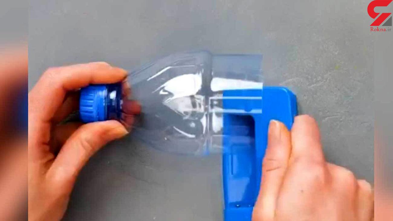با بطری پلاستیکی گلدان بسازید + فیلم