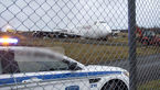 تصاویری از بوئینگ٧٤٧  که با شکم روی زمین در فرودگاه نشست!