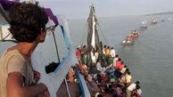 واژگونی کشتی مسافربری در اندونزی+عکس