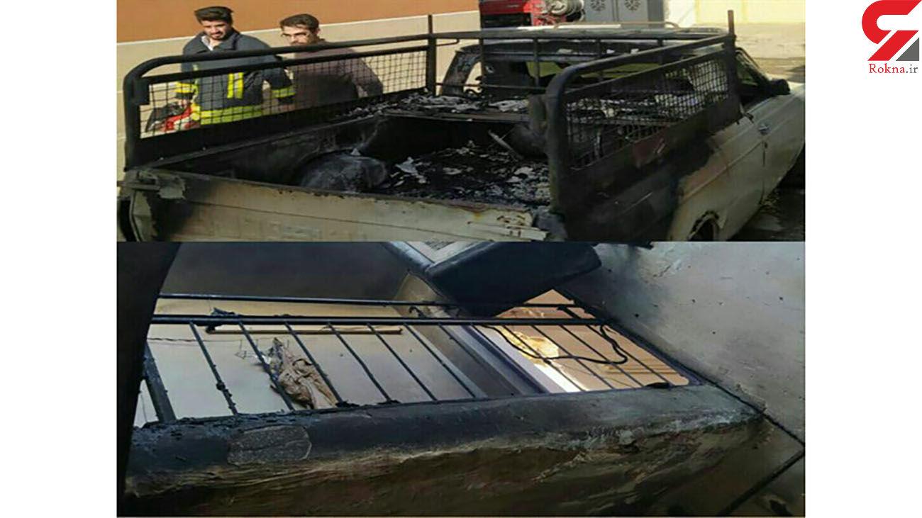 نجات معجزه آسای مادر و فرزندش از میان شعله های آتش / در کرمانشاه رخ داد