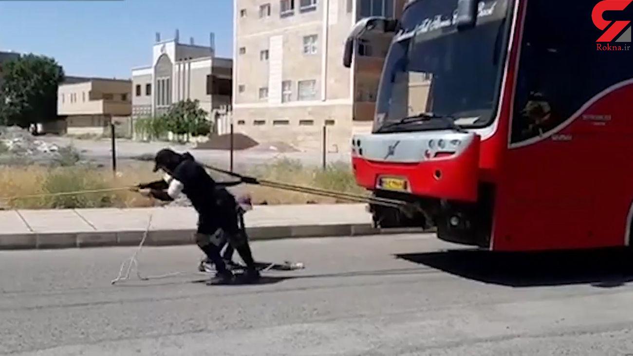 گفتگو با مریم همتی قوی ترین زن ایران + فیلم کشیدن اتوبوس 18 تنی