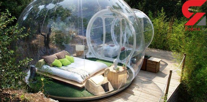 سکونت در اقامتگاه های شیشه ای و سیار