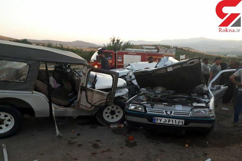 2 کشته و 9 مصدوم در حادثه رانندگی مهاباد