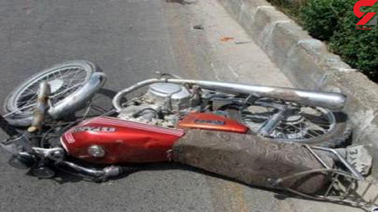 مرگ موتور سوار در حادثه رانندگی تاکستان