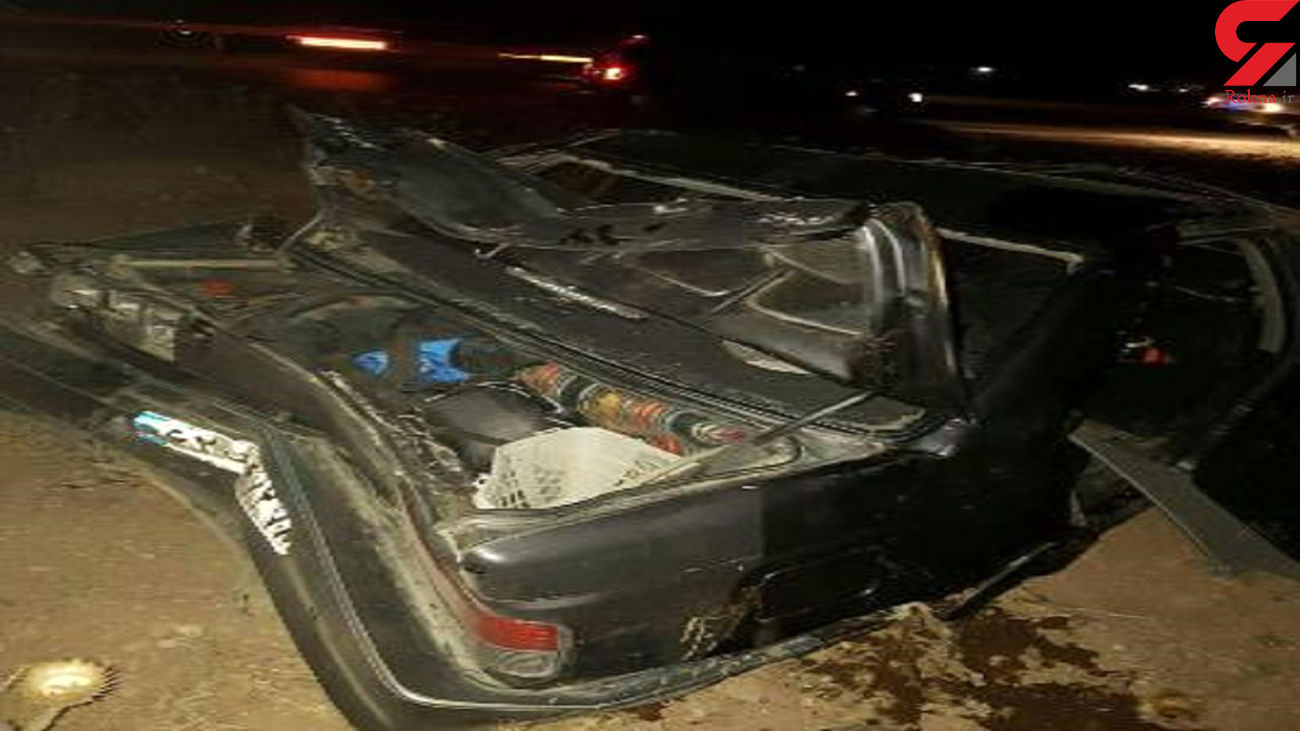 واژگونی یک دستگاه پژو 405 در محور شهرضا _ اصفهان