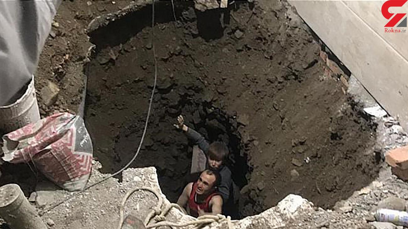 نجات معجزه آسای 3 مرد از زنده به گور شدن در قلب تهران + عکس ها