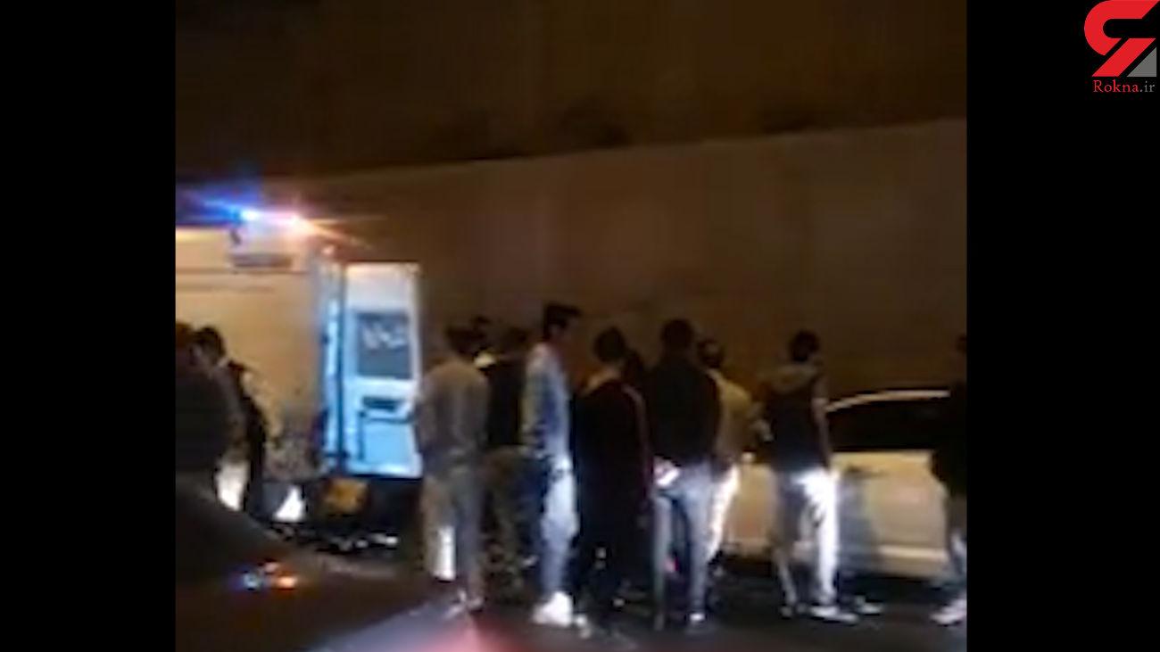 تصادف مرگبار با تماشاچیان یک سانحه رانندگی در کرج / 10 تن وضعیت وخیمی دارند + فیلم
