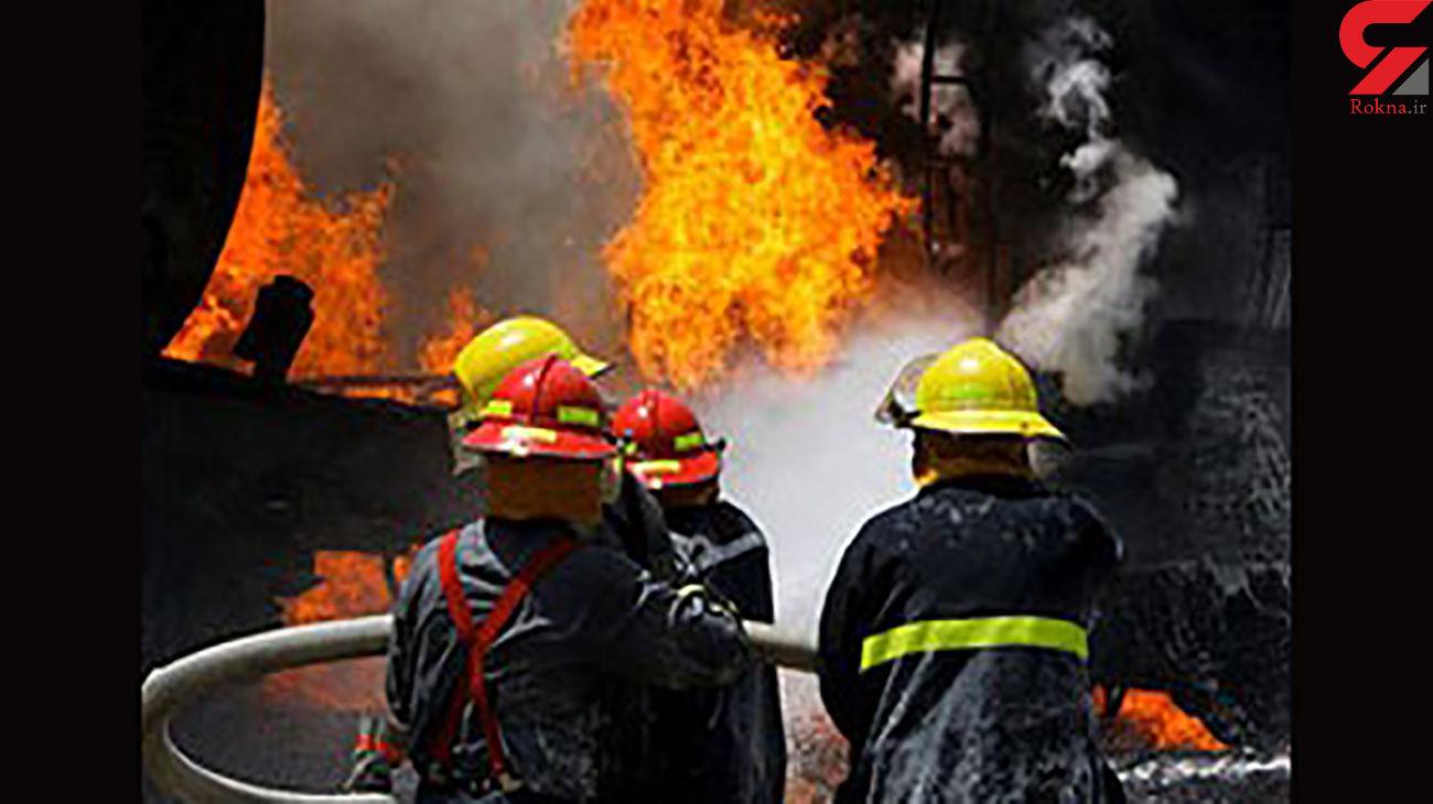 آتش سوزی در پاساژ شهرداری شهر سرابله ایلام + فیلم