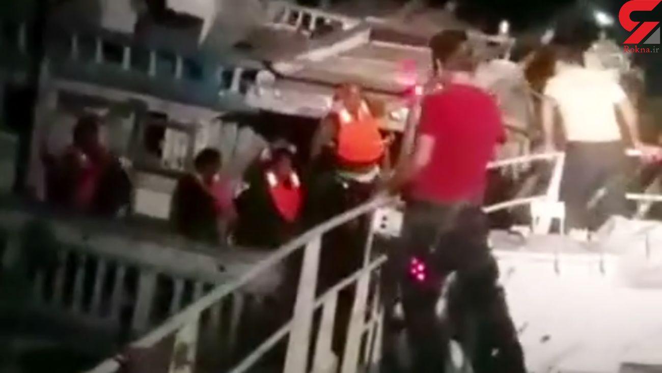 نجات ملوان و 6 خدمه لنج در مسیر دبی گناوه + فیلم