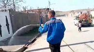 فیلم ضدعفونی کردن روستای سوراوجین قزوین برای مقابله با کرونا