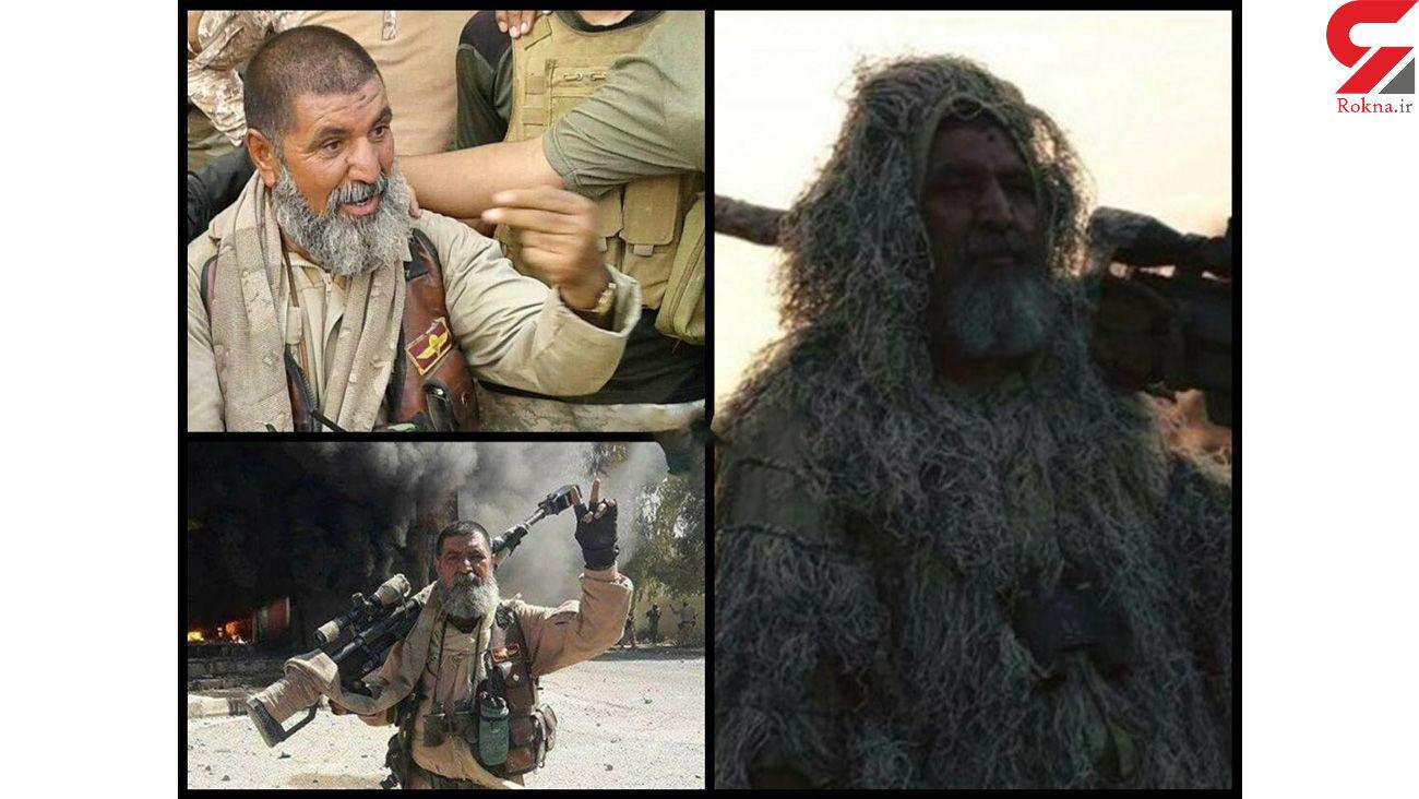 عکس/ این تک تیرانداز افسانه ای 320 داعشی را کشت
