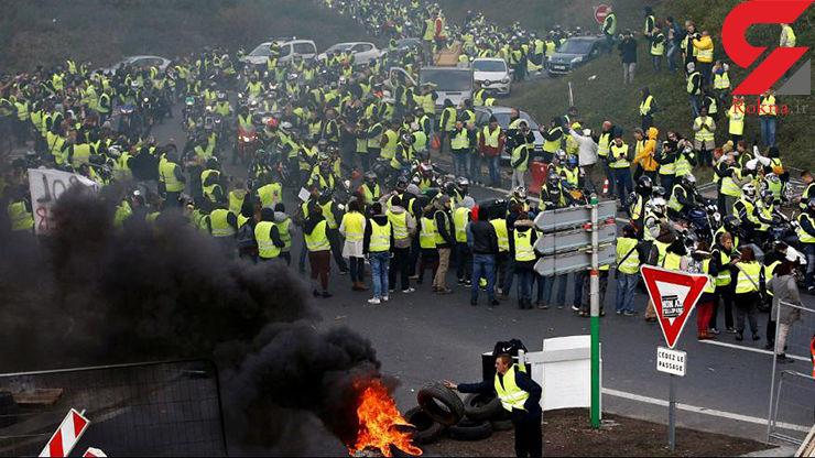 کتک زدن وحشیانه یک معترض توسط پلیس فرانسه + فیلم