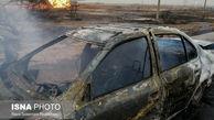 جزغاله شدن 5 اهوازی بر اثر آتش سوزی خودرو+ تصاویر
