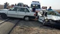تصادف زنجیره ای در اثر لغزندگی جاده در ایلام