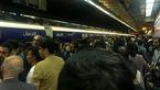 اختلال در خط 2 متروی تهران +عکس