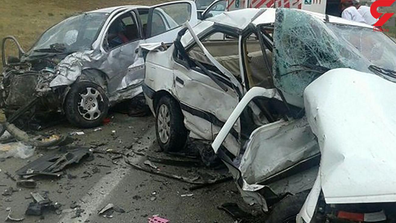 11 کشته و زخمی در 2 تصادف مرگبار یاسوج + عکس خودروهای پوکیده