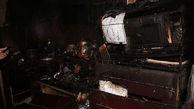 آبدارخانه یک ساختمان اداری در خیابان ولیعصر آتش گرفت