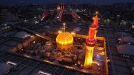 تصاویر هوایی زیبا از کربلا در اربعین
