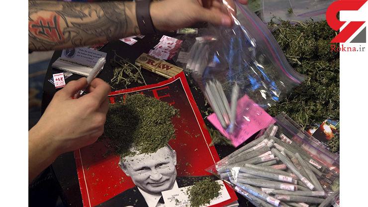 """بسته بندی """"علف"""" برای توزیع در مراسم تحلیف ترامپ+عکس"""