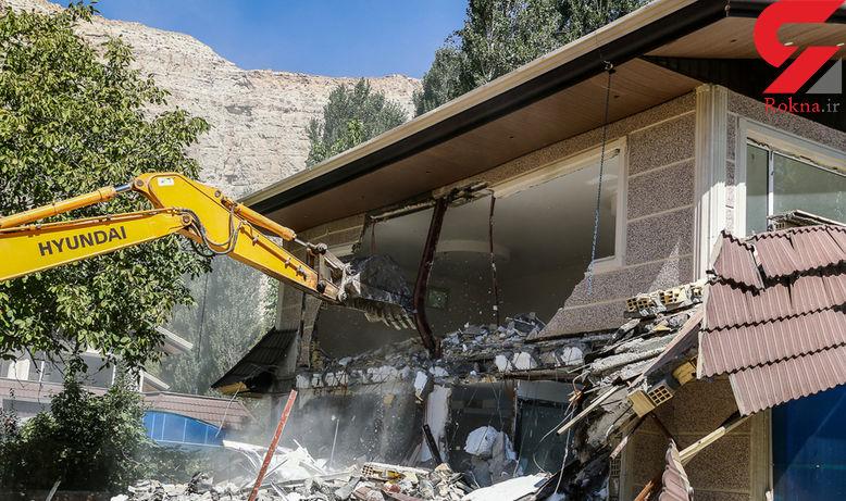 عکس های باورنکردنی از تخریب 4 ویلای 12 میلیاردی در جنگل فیروزکوه  /  دادستان دستور داد