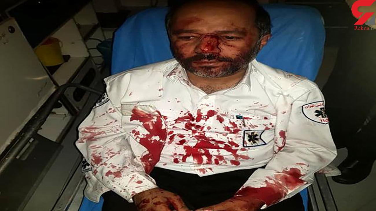 ضرب و شتم تکنسین اورژانس تهران هنگام ماموریت!  + عکس