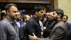 فرزاد فرزین در مجلس ختم پدر سردار حقانیان +عکس