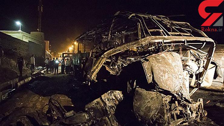 پارگی شیلنگ ترمز تانکر  سوخت فاجعه اتوبوس سنندج را رقم زد