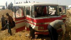واژگونی مینی بوس در ساوه ۱۸ نفر را راهی بیمارستان کرد