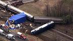 یک قطار مسافربری در نزدیکی دریاچه از ریل خارج شد+ عکس هوایی