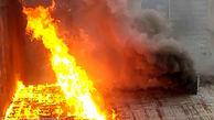 مهار آتشسوزی انبار نگهداری چوب در قزوین