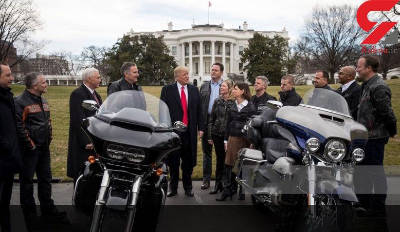 حرکت عجیب ترامپ در حیاط پشتی کاخ سفید + فیلم و تصاویر